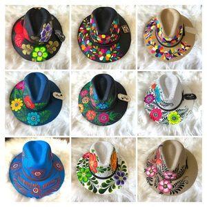 Anpa Women's Hand Painted Mexican Sombrero Hat